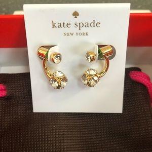 NWT- KATE SPADE LADY MARMALADE CRYSTAL EARRINGS.